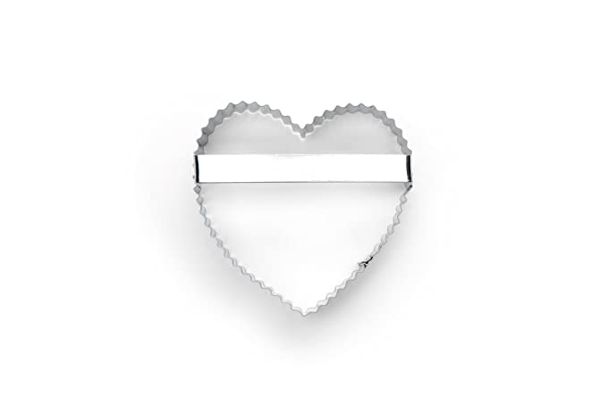 "3444 Fox Run Crinkled Heart 4/"" Cookie Cutter Set of 2"