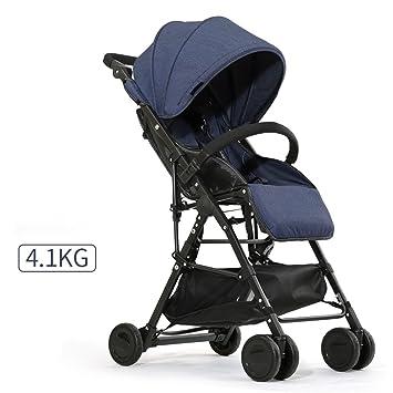 QWM-Las bicicletas infantiles para bebés Carrito de bebé Ultra-ligero Portátil y plegable
