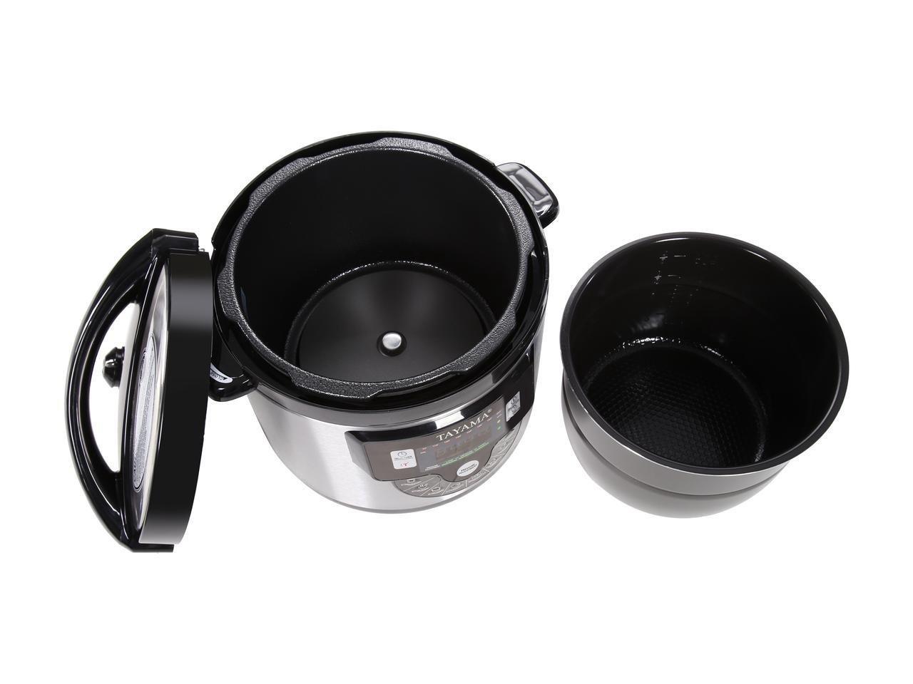 Tayama TMC-60XL 6 quart 8-in-1 Multi-Function Pressure Cooker, Black by TAYAMA (Image #8)