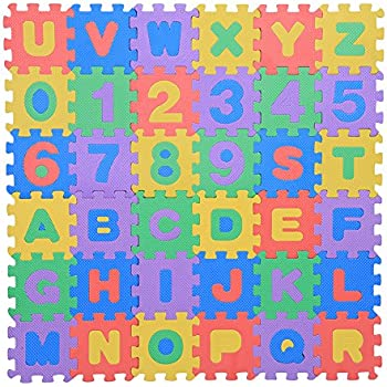 Amazon Com Zerodis 36pcs Infant Soft Eva Foam Play Puzzle