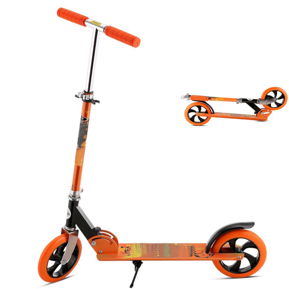 Adult Kick Scooter, Foldable Lightweight 3 Levels Adjustable Height 2-Wheel Kick Scooter for Teenager
