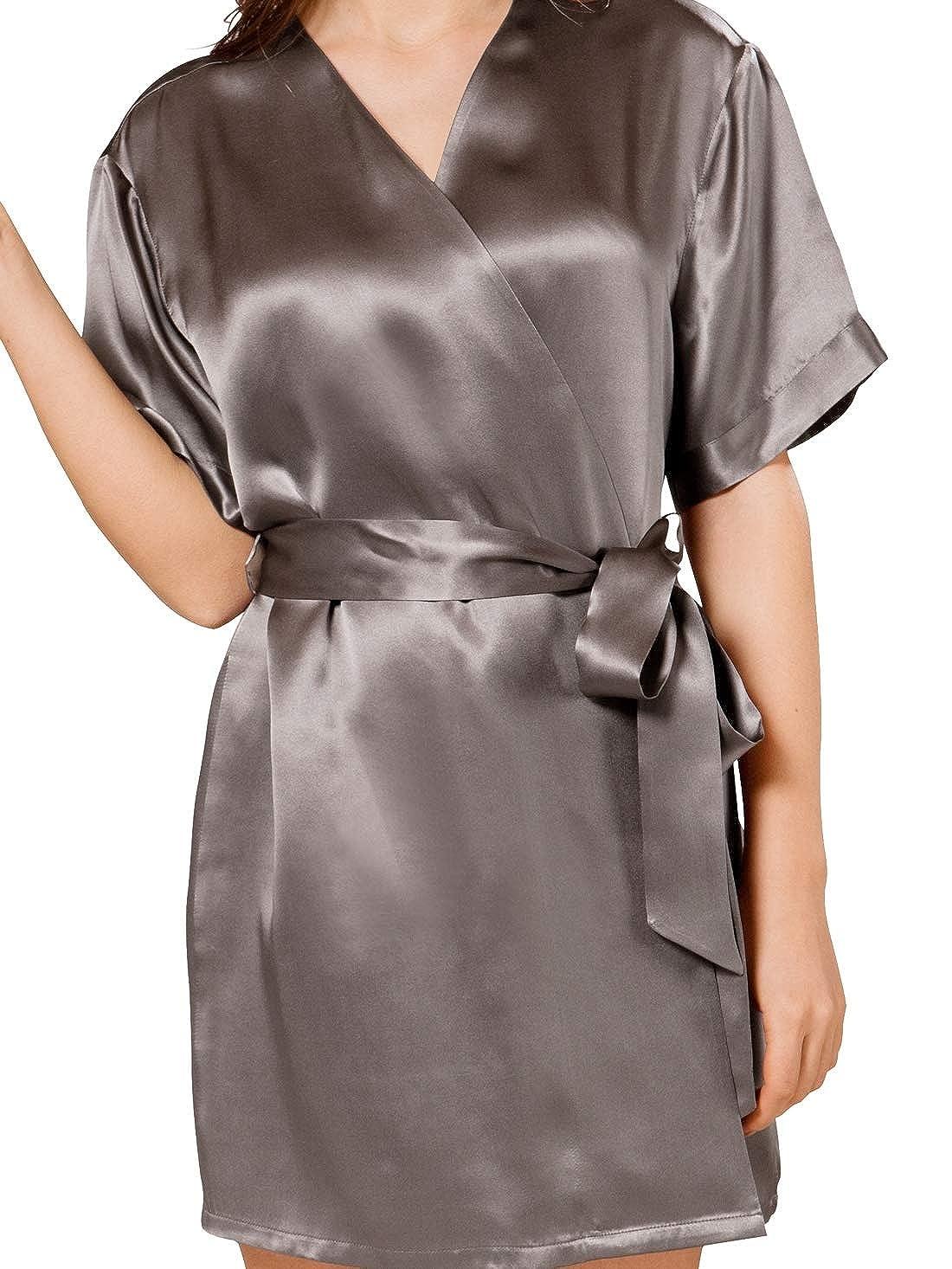 ElleSilk 100% Seide Morgenmantel Damen, Damen, Damen, Kurz Badmantel Kimono 22mm Maulbeerseide B01ARB1B6S Morgenmntel 1551ae
