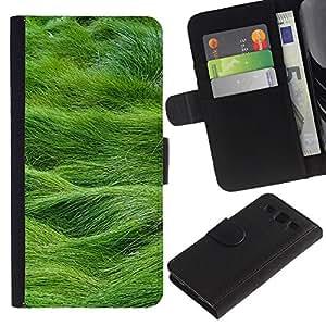 SAMSUNG Galaxy S3 III / i9300 / i747 Modelo colorido cuero carpeta tirón caso cubierta piel Holster Funda protección - Summer Nature Grass Green Field