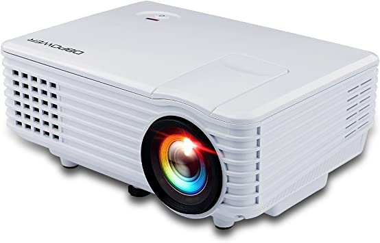 DBPower RD Mini - Proyector LED (800x480p, USB, VGA, HDMI), color blanco: Amazon.es: Electrónica