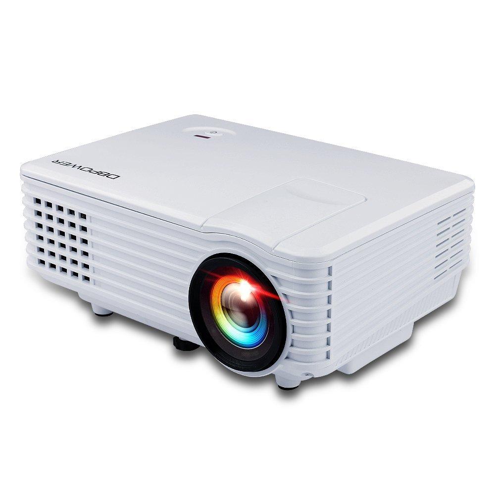 DBPower RD Mini - Proyector LED (800x480p, USB, VGA, HDMI), color blanco