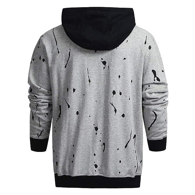 Internet-Suéter con Capucha de Manga Larga con Estampado de otoño e Invierno para Hombre