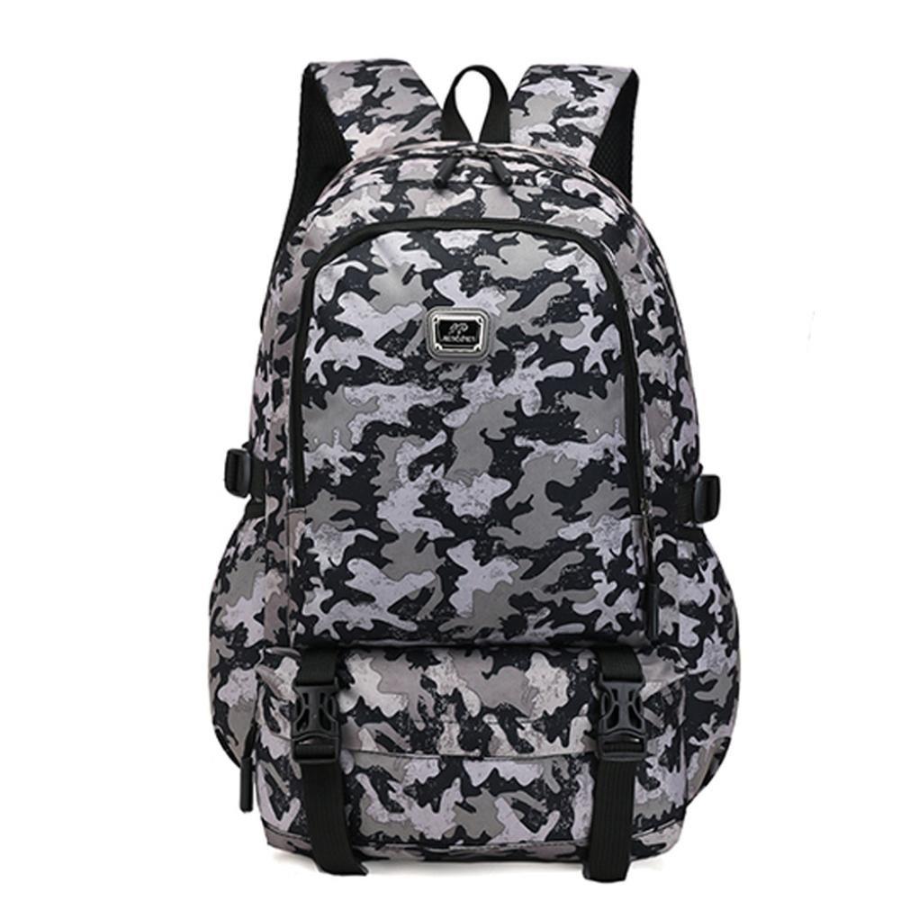 Women Men Nylon Backpack Travel School Laptop Bag Clutch Handbag Clearance Tassel Messenger Strap Tote on sale Kids Coin Phone Satchel Purse Card Holder Case (Gray)