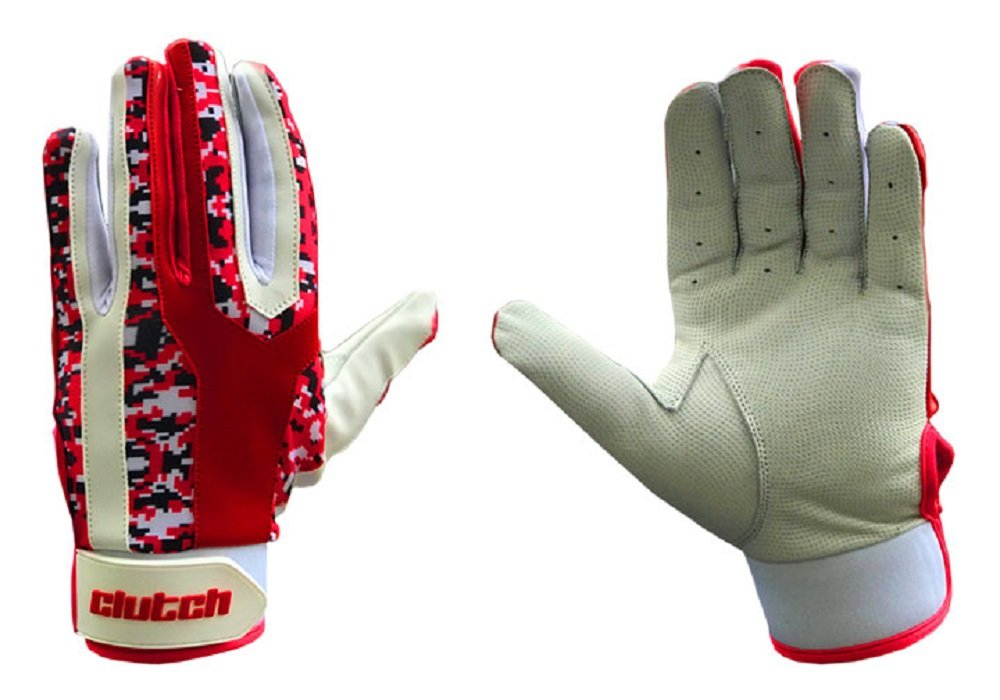 クラッチDigi CamoレッドPro Batting Gloves B0716VV1XY M|Red/Black/White Digi Camo Red/Black/White Digi Camo M