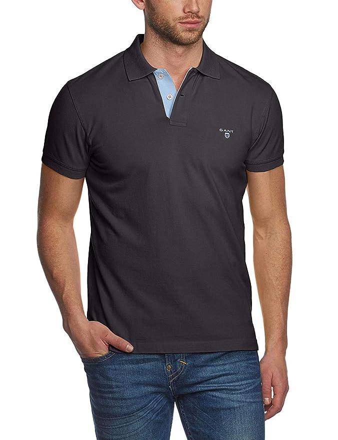 GANT Contrast Collar Pique SS Rugger Polo para Hombre: Amazon.es ...