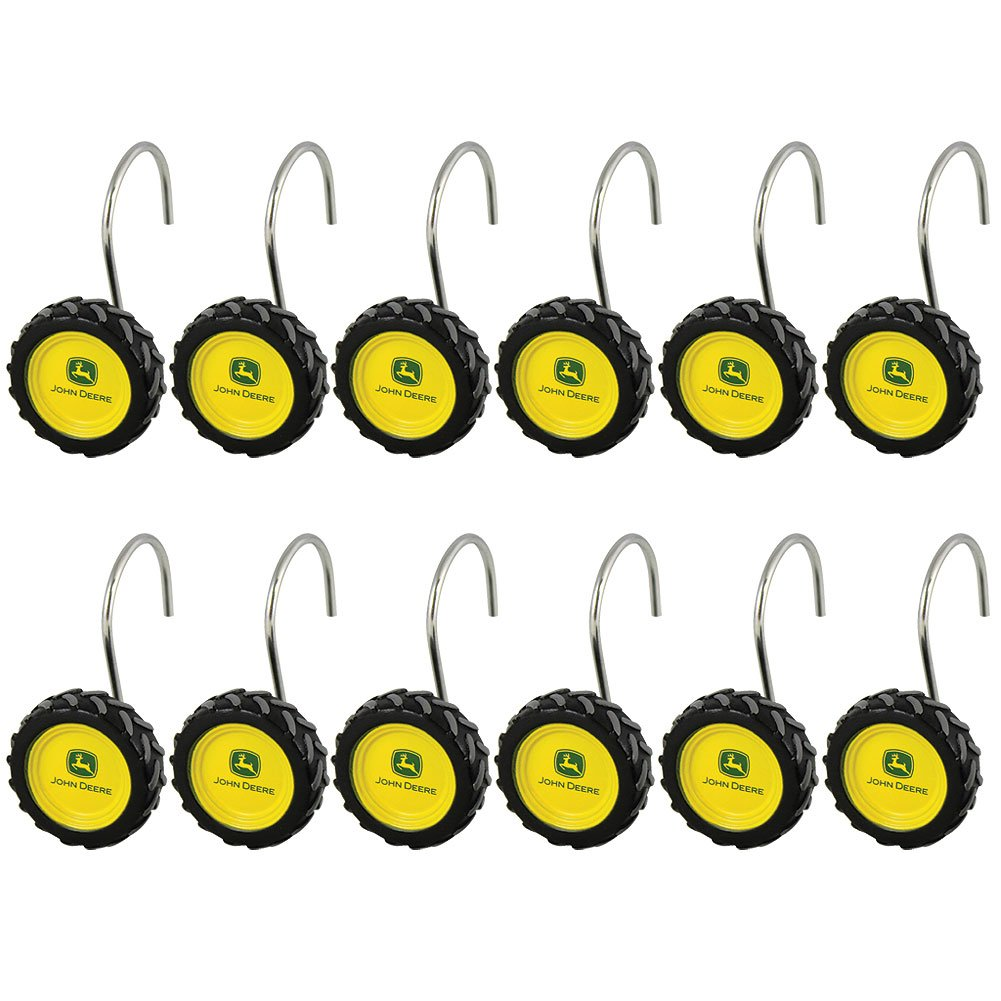 John Deere Kitchen Curtains Amazoncom John Deere 12 Count Tire Shower Curtain Rings Home