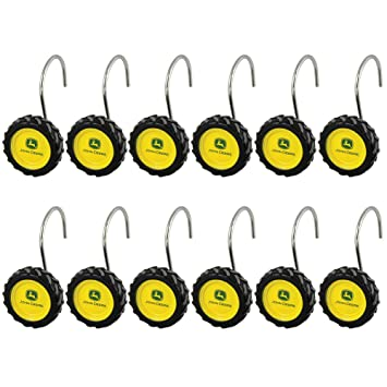 Amazon.com: John Deere 12 Count Tire Shower Curtain Rings: Home ...