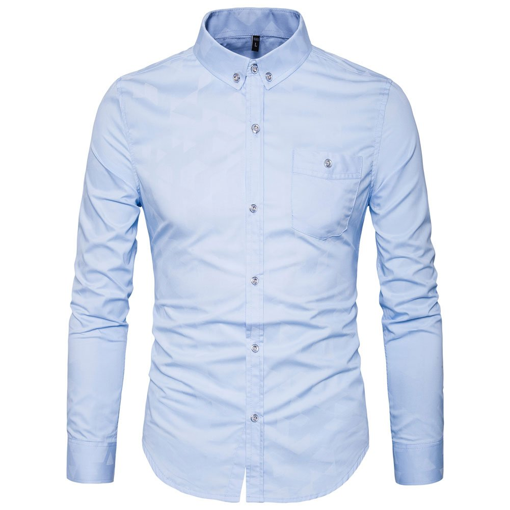 Muse Fath Mens Printed Casual Button Down Shirt Cotton Long Sleeve