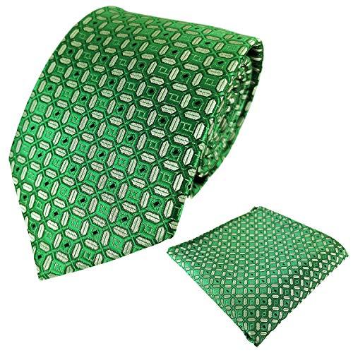 KOOELLE Mens Necktie Geometric Diamond Check Woven Ties & Pocket Square Set