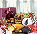 Dulcet's Christmas Holiday Gift Box with Cookies, Brownies, and Treats.