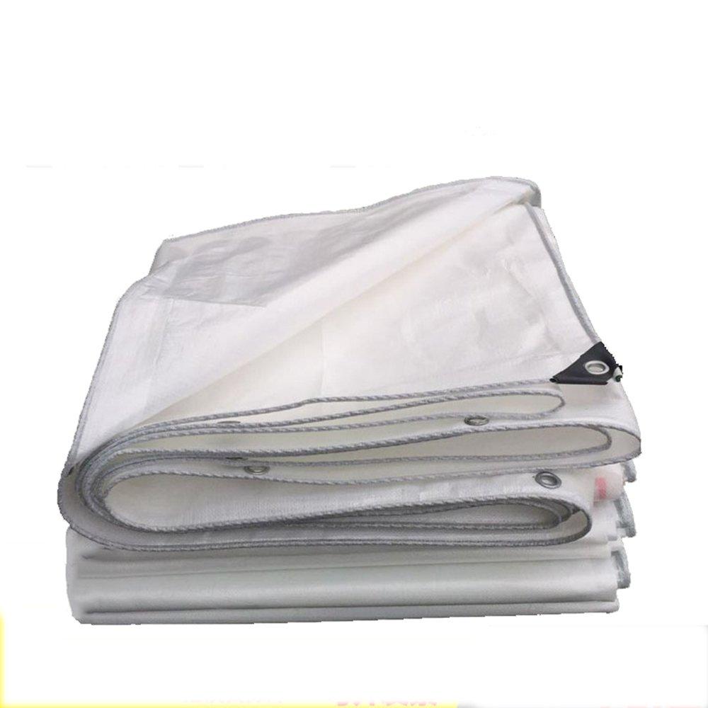 YANGFEI 防水シート ホワイトタール多目的保護カバー - 耐久性、耐水性、耐候性、裂け易い耐磨耗性厚い0.3mmポリエチレン 耐久性に優れています B07FNDSYDL 8*12m|白 白 8*12m