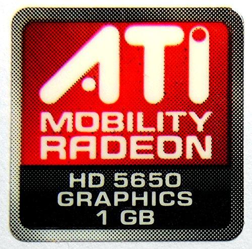 Original ATI Mobility Radeon Graphics HD5650 1GB Sticker 16.5 x 16.5mm [557] ()