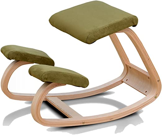 Color : A JFya Ergonomic Kneeling Chair Height Adjustable Orthopedic Posture Stool Neck Pain /& Spine Tension Relief Kneel Seat Office Balance Massage Chair
