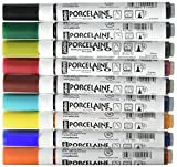Pebeo Porcelaine 150, Assorted China Paint Fine Tip Markers, 9-Pack