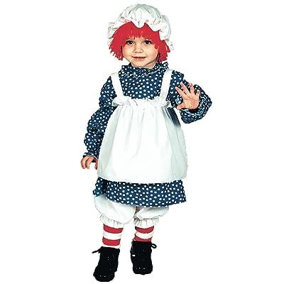Morris Costumes Raggedy Ann Costume: Girls Toddler Size (2T-4T): Clothing [5Bkhe1107054]