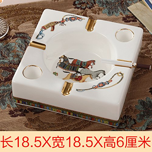CLG-FLY European high-grade ceramic size ashtray creative personality living room table Home Furnishing office decoration,E size by CLG-FLY (Image #1)