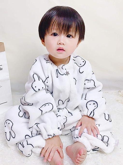 Saco de dormir unisex para bebé 1-3 años piernas de algodón orgánico pierna manga larga piel transpirable mecha antichoque pijama para niños: Amazon.es: Bebé