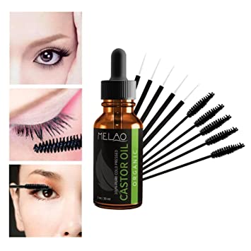 516e68fa915 Amazon.com: Castor Oil Organic 100% Pure Castor Oil,the eyelashes growth  serum natural that is suitable for Eyelashes Eyebrows Hair Growth(30ml):  Beauty