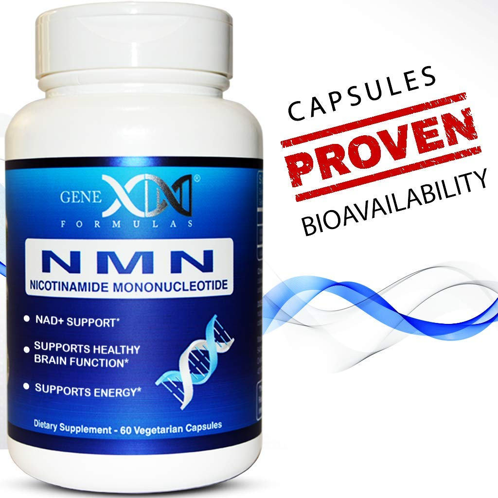 NMN 250mg Serving Nicotinamide Mononucleotide Direct NAD+ Supplement (2X 125mg Capsules 60ct).