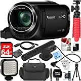 Panasonic HC-W580K Full HD Camcorder with Mini Zoom Microphone + 64GB SDXC Memory Card + Gadget Bag + Corel PaintShop Pro X9 + Microfiber Cloth + Memory Card Wallet + Card Reader + Tripod & More