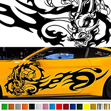 Dragon car sticker car vinyl side graphics 225 stickers decals 【8 colors to choose