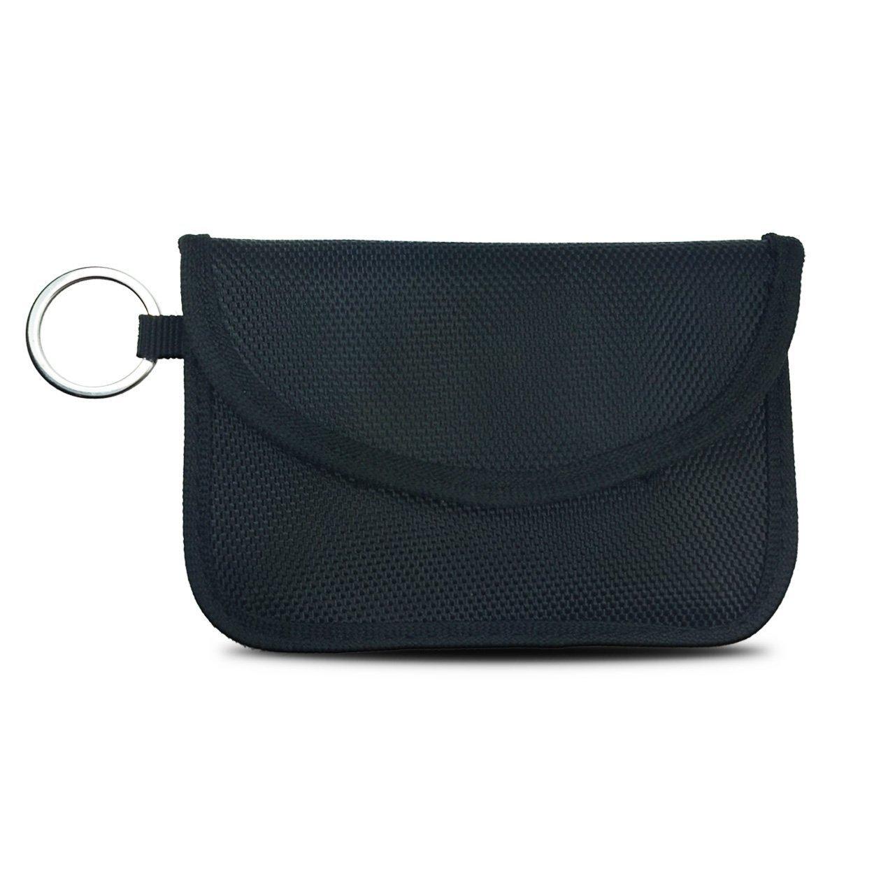 Naviurway Key Fob Signal Blocking Bag Auto RFID Blocking Holder Anti-hacking Security Bag for Car Smart Keyless Entry Remote Fob Controller Black