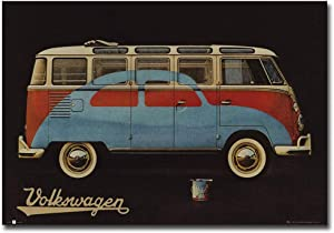 "Volkswagen Camper Vintage Advertisement Refrigerator Magnet Size 2.5"" x 3.5"""
