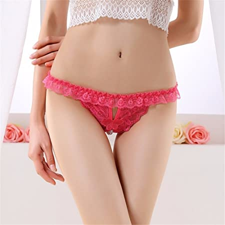 74dca2e50c28 HALILUYA Women Knickers Lace Thongs thon Underwear sexy no civil underwear  female perspective pearl beaded massage