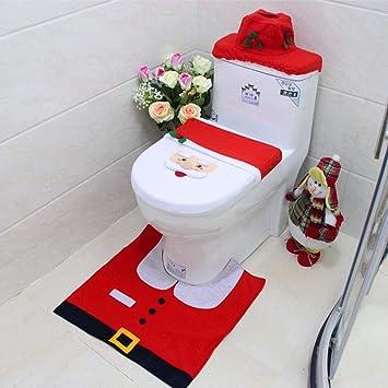 Uten Ensemble WC Housse de Toilettes Tapis Bo/îte /à Mouchoirs Christmasmas No/ël D/écoration