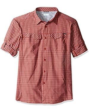 Men's Big-Tall Silver Ridge Plaid Long Sleeve Shirt, Rusty, X-Large