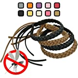 Original Kinven Mosquito Insect Repellent Bracelet Waterproof Natural DEET FREE Insect Repellent Bands, Anti Mosquito Protection Outdoor & Indoor, Adults & Kids, 8 bracelets, in Brown/Black