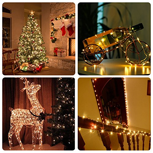 Milemont window curtain string lights fairy twinkle icicle - Indoor string lights ideas ...