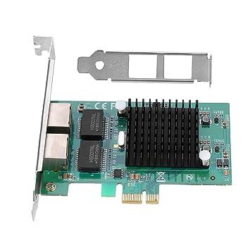 Zerone Tarjeta de Red Ethernet, Intel 82575EB Chip Dual 2 ...