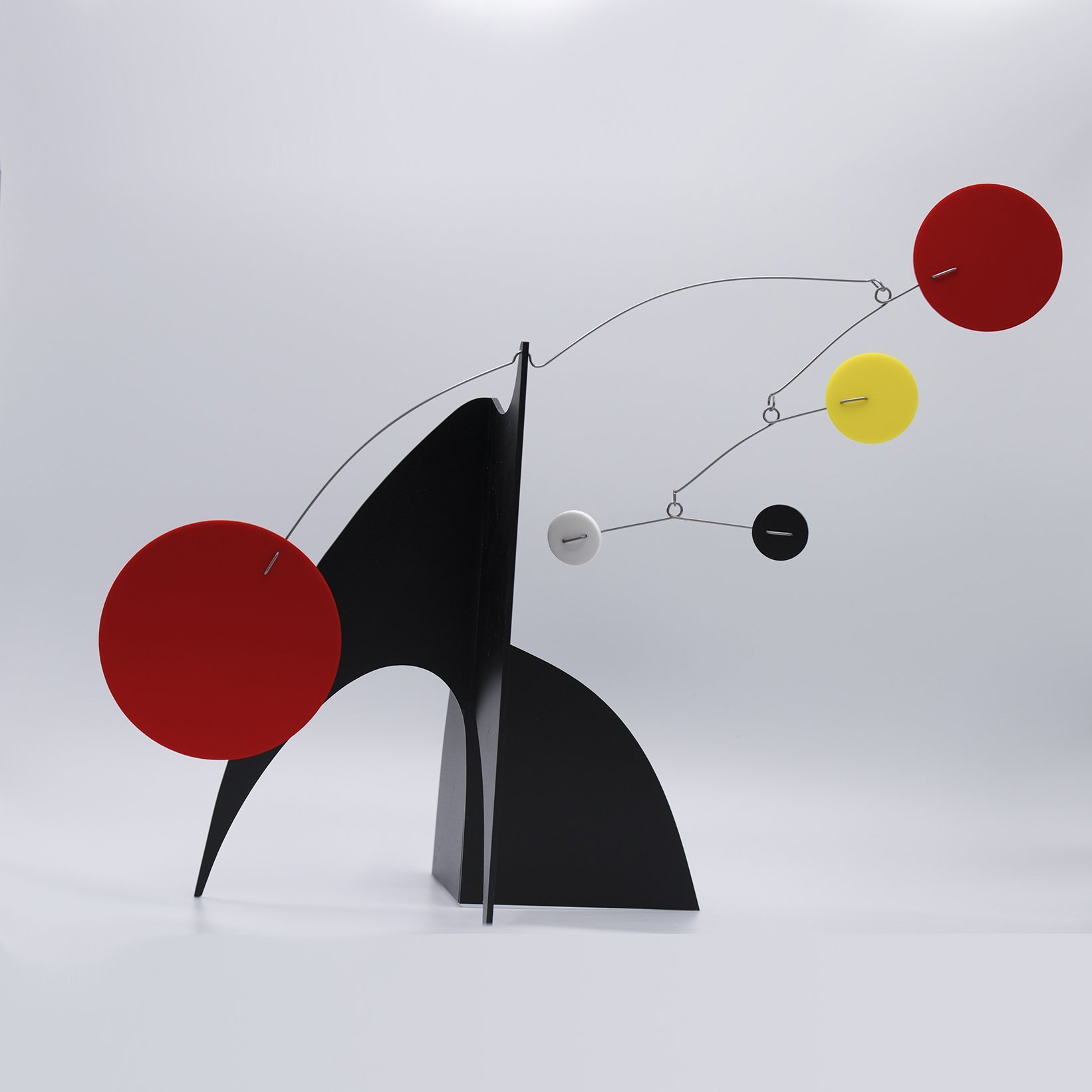 Gorgeous Moderne Art Stabile by Atomic Mobiles - a mobile you display on your coffee table, shelf, desk, or counter top - Inspired by Alexander Calder and Mid Century Modern Retro Style