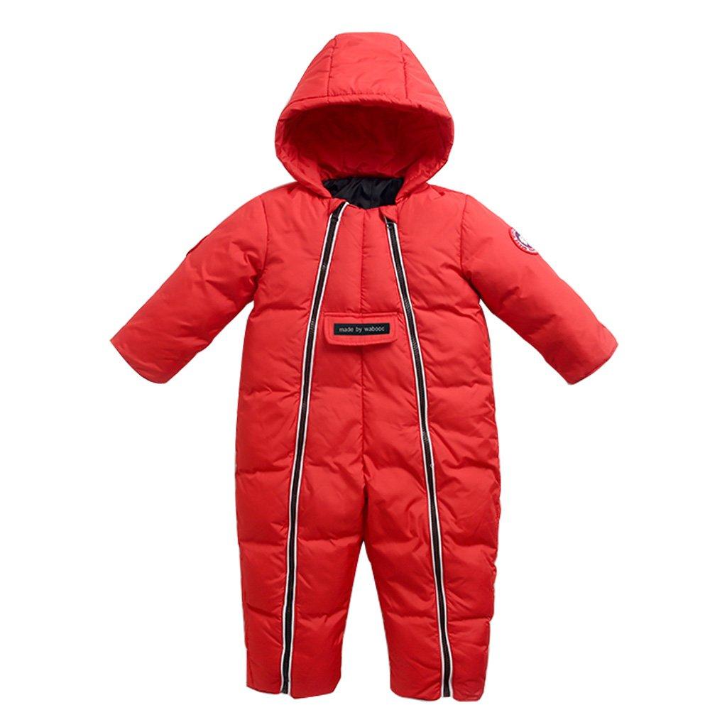 Bébé à Capuchon Barboteuses Enfants Habits de Neige Jumpsuit Tenues d'hiver Double Zippers De Face H171107MY001