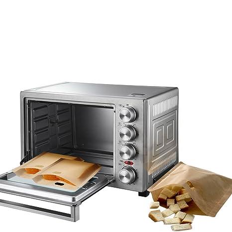 SUPOW 20 unidades bolsas de tostadora, reutilizable ...