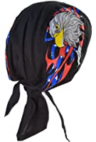 Bandana aigle us usa drapeau eagle serre tete homme femme biker moto paintball airsoft chasse peche casque
