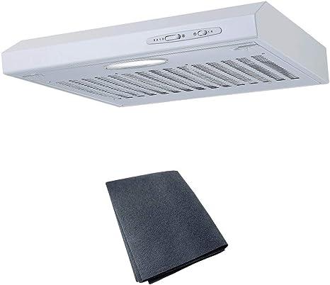 cookology 50 cm visor campana en color blanco con filtro   cocina Extractor ventilador: Amazon.es: Grandes electrodomésticos