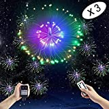 Boomlight Starburst Light, Outdoor String Light,Fairy Twinkle Lights, Hanging Light,Waterproof with Remote Control Power Source with Copper Wire for Bedroom,Wedding, Garden,Outdoor (Colorful)