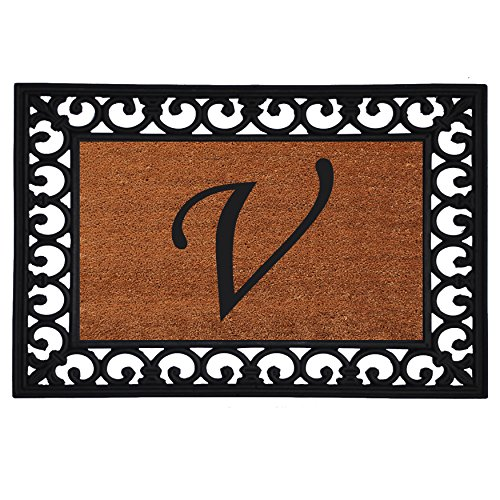 home-more-180041925v-inserted-doormat-19-x-25-x-060-monogrammed-letter-v-natural-black