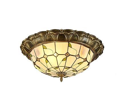 LED Tiffany estilo techo hechos a mano en cristal techo ...