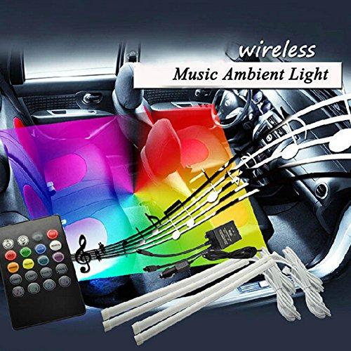 inhdbox 4pcs dc 12v multi color 7 color car interior light bulb led under dash lighting kit with. Black Bedroom Furniture Sets. Home Design Ideas