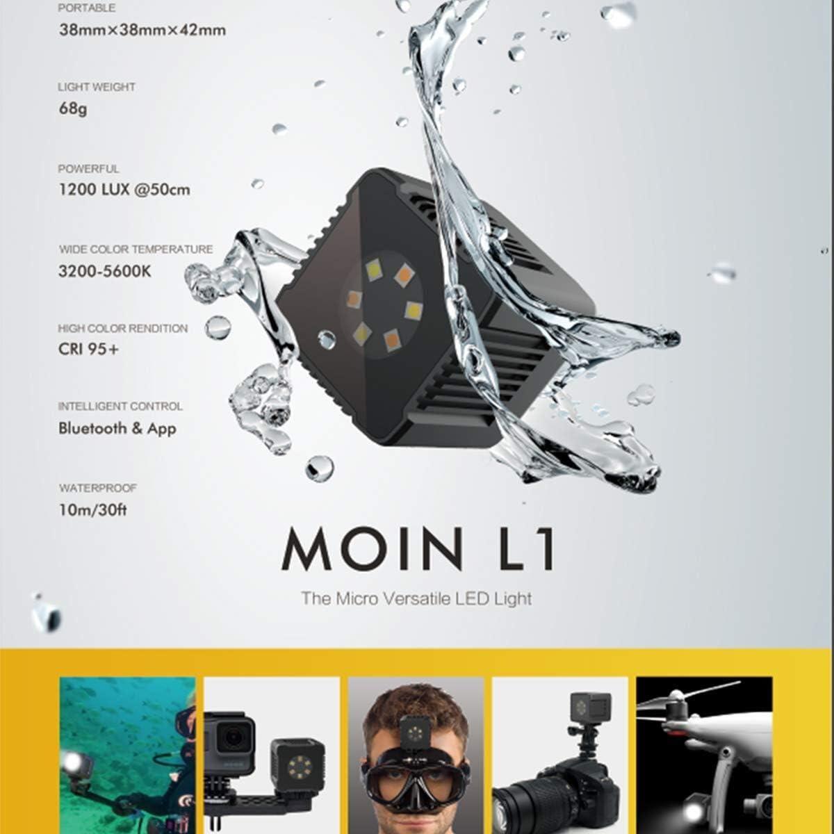 fotowelt Micro Lume Cube Lampe vid/éo /à LED 3200K-5600K Lumi/ère de Cube avec c/âble de Chargement magn/étique pour pour Smartphone//Appareil Photo//Drone//Cam/éras daction