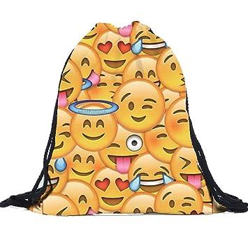 Amazon.com: Emoji Bags, Ammazona Unisex Cute Emoji Backpacks 3D ...