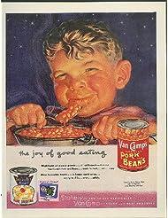 The Joy of Good Eating Van Camp's Pork & Beans ad 1953 rosy-cheeked boy