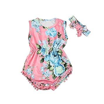 3685aaf59 Newborn Infant Fashion Clothing Set GoodLock Baby Girl Floral Romper  Jumpsuit Sunsuit Headband Outfits Clothes 2Pcs